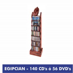 EGIPCIAN mueble 140 CD ó 56 DVD madera natural