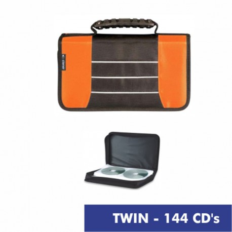TWIN estuche 144 CD naranja