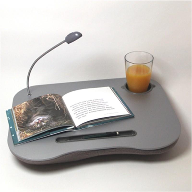 Mesa con coj n y luz led para port til con posavasos mod - Mesa para portatil ikea ...