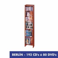 BERLIN 192 CD o 80DVD con puerta cristal decorada