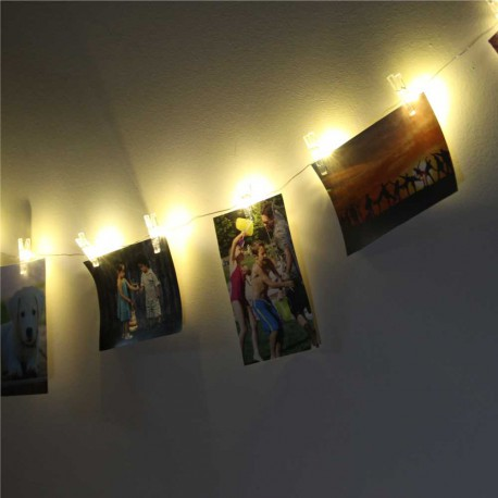 Guirnalda led con pinzas para fotos