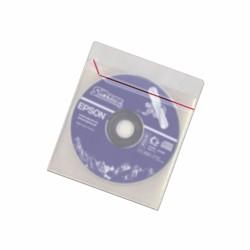 Sobres de plástico para CD con solapa y banda adhesiva