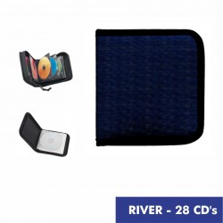RIVER Porta 28 CD's color azul