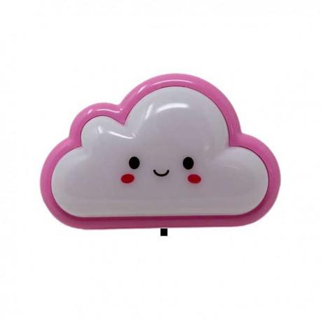Luz de noche infantil nube rosa