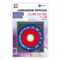 Limpiador lentes CD, DVD, Blu-Ray, consolas y PC con líquido