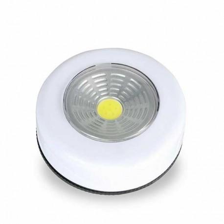 Luz de toque LED COB pilas
